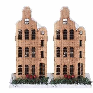 2x kerstdorp kerstkerstdorp huisjes grachtenpanden halsgevel 21 cm me