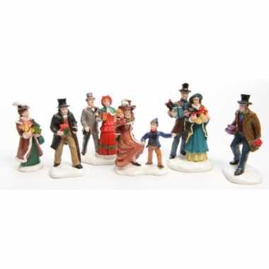Kerstdorp figuurtjes winkelen