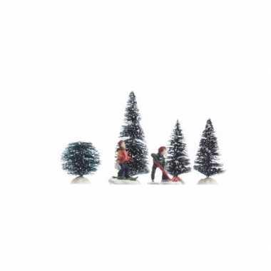 Kerstdorp maken decoratie spelende kinderen 26,5 cm type 1