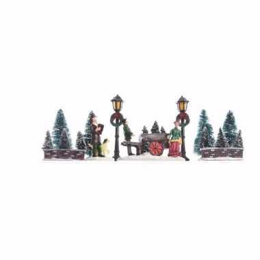 Kerstdorp maken kerst parkje 31 cm type 1