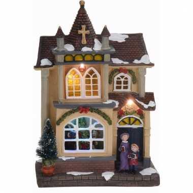 Kerstdorp maken kerstkerstdorp huisje met led licht type 4