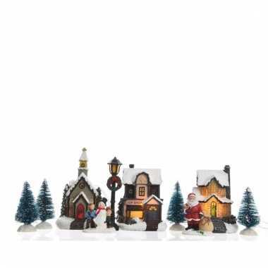 Kerstdorp maken winkelstraat met led verlichting 9,5 cm | Kerstdorp ...