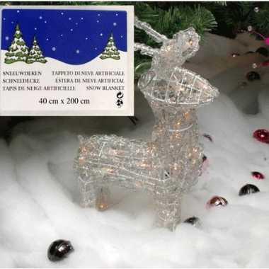 Kerstdorp ondergrond sneeuwdeken 200 x 40 cm