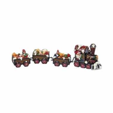 Kerstdorp trein met kerstman