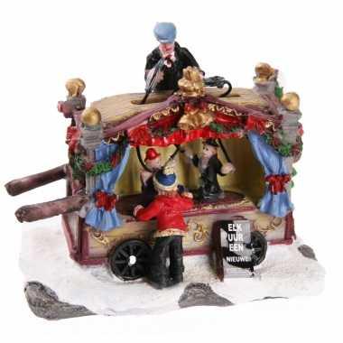 Kerstkerstdorp huisje poppentheater kraam