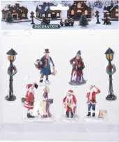 7x kerstdorp figuren poppetjes type 2
