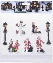 7x kerstdorp figuren poppetjes type 3