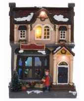 Kerstdorp maken kersthuis met led licht 20 cm type 1