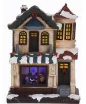 Kerstdorp maken kerstkerstdorp huisje met led licht type 2
