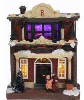 Kerstdorp maken kerstkerstdorp huisje met led licht type 3