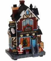 Kerstkerstdorp huisje kerstdecoratiewinkel