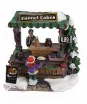 Kerstkerstdorp huisje trechtercake kraam